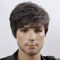 Deluxe Hair Extensions And Wigs Men's Synthetic Hair Wigs (Brown)