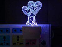 UKANI Acrylic Personalised 7 Colour Changing 3D Illusion LED Night Lamp || Gift for Every Occasion/Valentines Day(Multicolour)