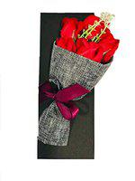 ShopAIS Artificial Roses Hand Bouquet (Green, 1 Piece)