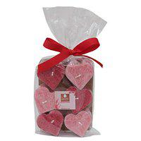 Deco aro Aroma Candle - 6 Big Pcs - Heart Shaped - Rose Fragrance - Home Fragrance
