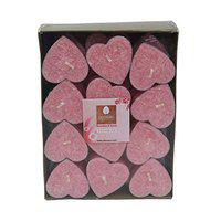 Deco Aro Aroma Candles - 24 Pcs - Heart Shape Candles - Rose Fragrance - Home Fragrance Home Decor