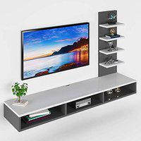 Sanvox TV Cabinet for Wall, TV Stand for Wall, TV Stand Unit for Wall for Living Room - Large
