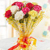 Floweraura Fresh flowers Bouquet of 10 Mix color carnations