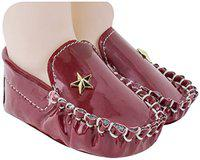 Neska Moda Baby Boys Pack of 1 Pair Maroon Rexine Loafers/Shoes for 6 to 12 Months