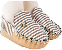 Neska Moda Baby Boys Pack of 1 Pair Brown Rexine Loafers/Shoes for 6 to 12 Months