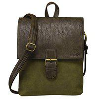 Walrus Jackson Green Vegan Leather Messenger Bag