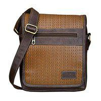 Walrus Europa Brown Vegan Leather Messenger Bag