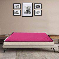 Stylista Waterproof Bedsheet/Mattress Protector Size WxL 48x72 inches 4x6 Feet Single Bed Polyester Pink