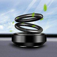 BOTAUTO Solar Car Fragrance Double Ring Rotating Car Aromatherapy Home Office Air Fresher Decoration Perfume Diffuser (Black) BOTAUTOMIX15