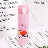 VIRTUAL WORLD Premium Quality Stainless Steel Water Bottle for Kids | Vacuum Flask Insulated Steel Water Bottle for Kids, Teenagers, Adult.Return -Mix Colour