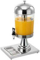 Andrew James Silver 8 Litre Single Stainless Steel Juice Dispenser Without Cooling - 1 Year Warranty