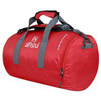 Foldable Sport Bag Polyester Gym Bag for Men Women Pink with Compartments Waterproof Backpack Outdoor Fitness Traveling 23L (Red)