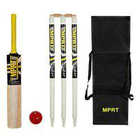 MPRT Striker Kashmiri Willow Cricket Kit for Red Leather Ball Bat Size 6(Age Group 12+) with 3 Stump,2 Bails, 1 Leather Ball, 1 Havey Kit Bag