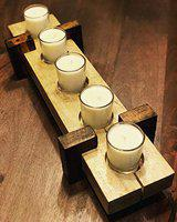 StyleMyWay 5 Tealight Candle Tray Holder | Tlight Holder | Candle Stand | Glass Votive Stand