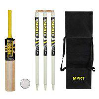 MPRT Striker Kashmiri Willow Cricket Kit with 3 Stump,2 Bails, 1 Leather Ball, 1 Havey Kit Bag for White Leather Ball Bat Size 6(Age Group 12+)