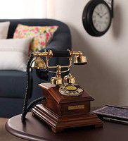DEZIINE=Antique Style Wooden Telephone, Vintage Type Retro Look landline as Home Phone handset (Telephone - 05).