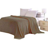 Confidence Double Bed Blanket Perfect for Return Gift for Marriage Anniversary (Light Brown)