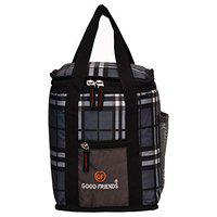 Good Friends Nylon Lunch Bag for School/Picnic (Black)