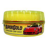 ABRO PW-400 Supergold Carnauba Car Wax for Gloss Shine and Water-Beading Protection Ideal for All SUV Bike & Auto (230g)