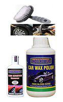 INDOPOWER HCYYY199- CAR Wax Polish 250gm+ Scratch Remover 100gm.+All Tyre Cleaning Brush