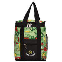 Good Friends Nylon Lunch Bag Waterproof Polyester Lunch Tiffin Bag for School Office Picnic (Green)