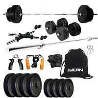 Lycan 20Kg Home Gym Combo with Rods, Dumbbells and Accessories