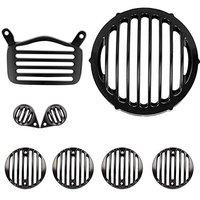 Gadget Deals Headlight Heavy Metal Grill Shade,Indicator,Tail,Eyes Grill for Royal Enfield Bullet Standard 350/500(Set of 8)