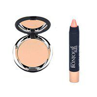 Bonjour Paris Photo Match Translucent Compact (Fair Pearly) + Crayon Concealer- Combo Pack of 2 (40% Discount)