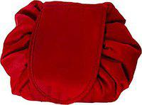 Favria Travel Makeup Bag Cosmetic Bag Travel Makeup Pouch Portable Toiletry Bags Fashion Beauty Case Nailpaint Lipstick Perfume Body Lotion Travel Organizer-Red
