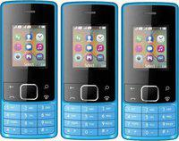 I Kall K20 Combo of 3 (1.8 Inch Display, Camera, Multimedia, Call Recording) (Blue)