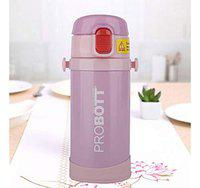 PROBOTT Thermosteel Mini Vacuum Kids hot and Cold Water Bottle with Belt 320ml Pink Color (PB320-02)