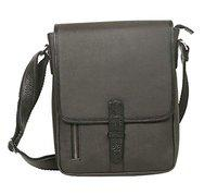 Meraki Waterproof Coated Canvas and Leather Sling Cross Body Bag for Men and Women