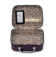 JAMUNESH Box for Women | Cosmetic Storage Boxes | Jewellery Organizer | Toiletry Bag with Compact Magnifying Mirror for Travel - Black