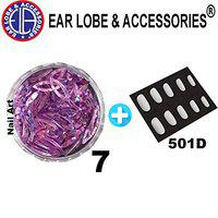 Ear Lobe & Accessories Nail Art Loose Oval Shaped Sequins No-7 and 10pcs Nails 501D
