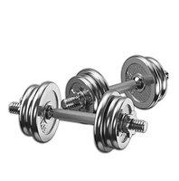 Dolphy Chrome Iron Adjustable Fitness Dumbbell Set for Home Gym Exercise (30 Kg)