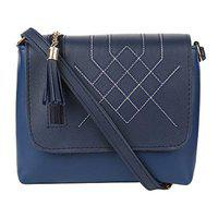 Aadhunik Libaas Women's Stylish Trendy Sling Bag, Cross Body Bag & Shoulder Bag (Blue)