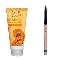 Avon Pack Of Two Papaya Whitening Cream And Twinkling Turquoise Eyeliner