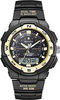 Maxima 52092PPAN Mens Outdoor Sport Wrist Watch, Large Analog Digital Watch - Dual Display Japanese Movement, Heavy Duty, 3ATM Water Resistant (Black)