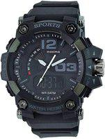 Maxima 58030PPAN Mens Outdoor Sport Wrist Watch, Large Analog Digital Watch - Dual Display Japanese Movement, Heavy Duty, 3ATM Water Resistant (Black)