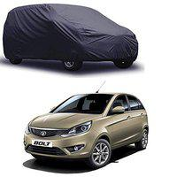 Varshine CAR Cover for Tata Bolt Model || Export Quality Fabric || Water Resistant and UV Protection || Triple Stitched || Dark Grey Color || with Out Mirror Pocket || V3XL || 87q
