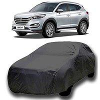 Varshine CAR Cover for Hyundai Tucson Model || Export Quality Fabric || Water Resistant and UV Protection || Triple Stitched || Dark Grey Color || Without Mirror Pocket || V8XL || C89
