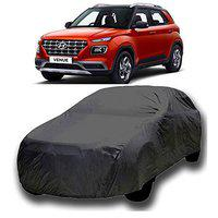 Starvin CAR Cover for Hyundai Venue Model || Export Quality Fabric || Water Resistant and UV Protection || Triple Stitched || Dark Grey Color || with Out Mirror Pocket || V4XXL || QA98