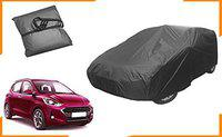 Starvin CAR Cover for Hyundai i-10 Grand nios Model    Export Quality Fabric    Water Resistant and UV Protection    Triple Stitched    Dark Grey Color    Without Mirror Pocket    V3XL    HF98