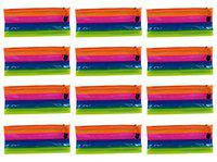 Aarvi Multicolor Pencil Pouch for Kids Birthday Return Gifts for Boys and Girls (Set of 12)
