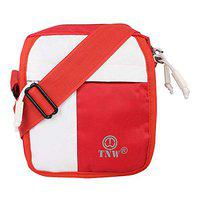Unisex Bag red White Made in India