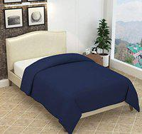 Blue Color Solid Plain Polar Fleece Single Bed Blanket Set of 1 (55x88 Inches)