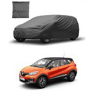 Enamic UK CAR Cover for Renault Captur Model    Export Quality Fabric    Water Resistant and UV Protection    Triple Stitched    Grey Color    with Carry Bag    with Out Mirror Pocket    V9    6532