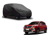 Enamic UK CAR Cover for MG Hector Model    Export Quality Fabric    Water Resistant and UV Protection    Triple Stitched    Grey Color    with Out Mirror Pocket    V9    9865