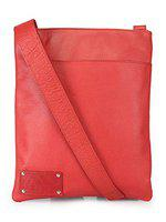 Annodyne Leather side and cross body sling bag (Red)