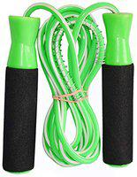 VICTORY Jumping Skipping Rope for Training, Exercise and Workout # Man,Woman # Foam Handle Ball Bearing Skipping Rope (Green)